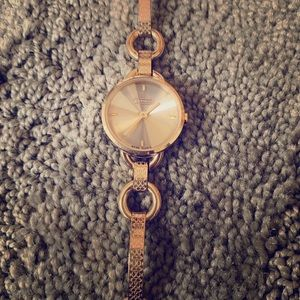 Gold Coach bracelet watch